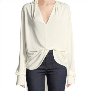 Equipment Long Sleeve Cowl Neckline Blouse Size XS